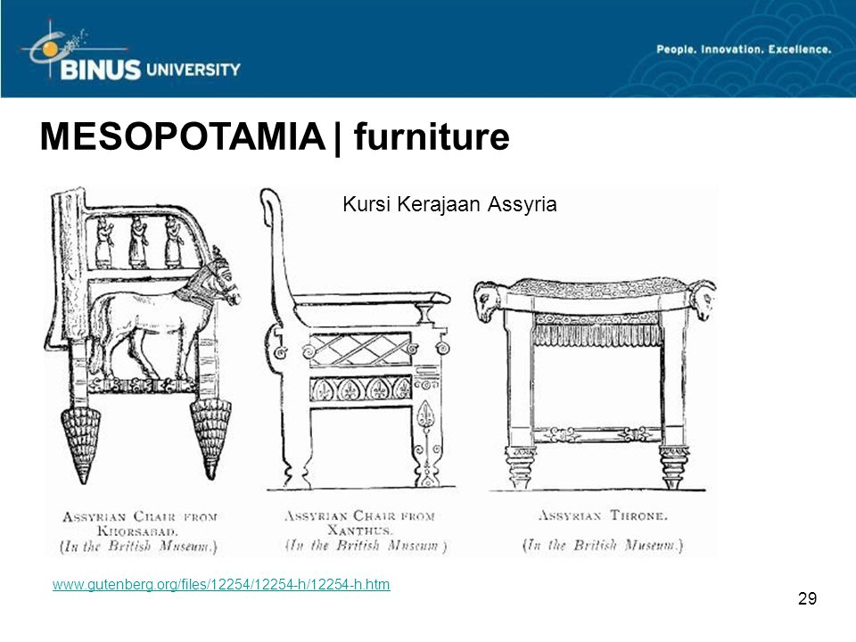 MESOPOTAMIA | furniture