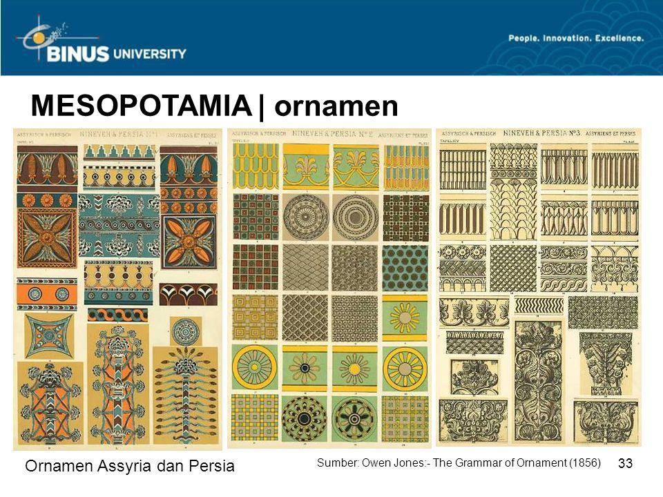 MESOPOTAMIA | ornamen Ornamen Assyria dan Persia 33