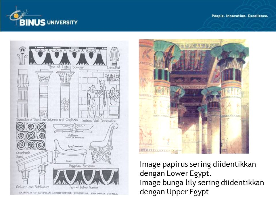 Image papirus sering diidentikkan dengan Lower Egypt.