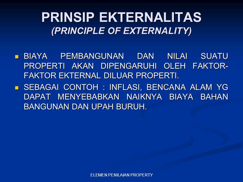 PRINSIP EKTERNALITAS (PRINCIPLE OF EXTERNALITY)