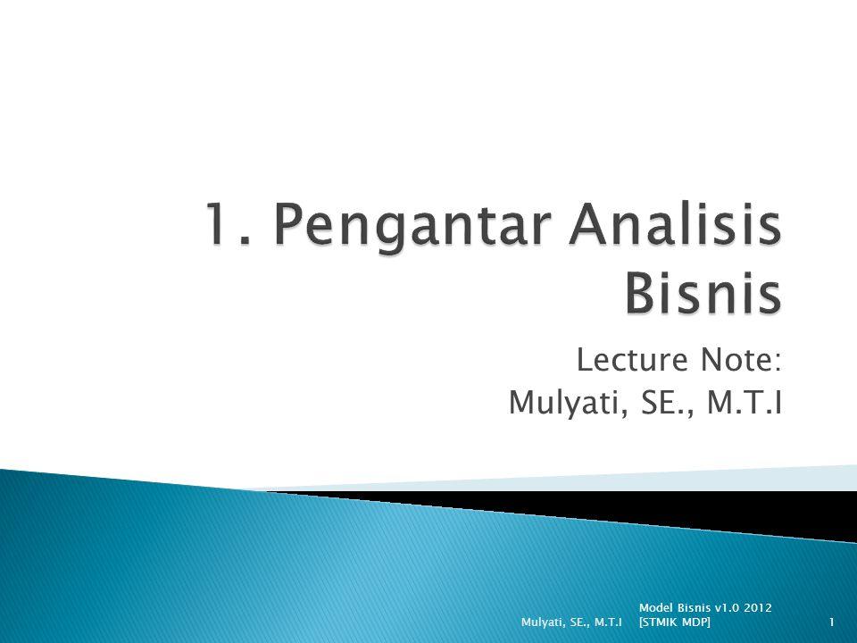 1. Pengantar Analisis Bisnis