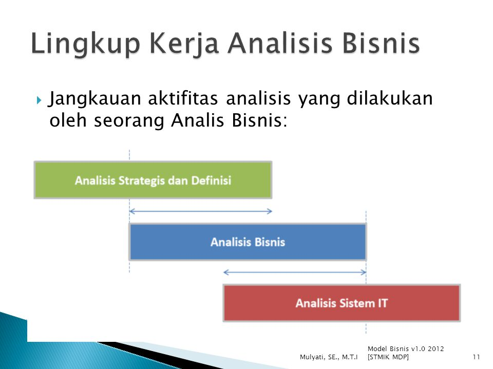 Lingkup Kerja Analisis Bisnis