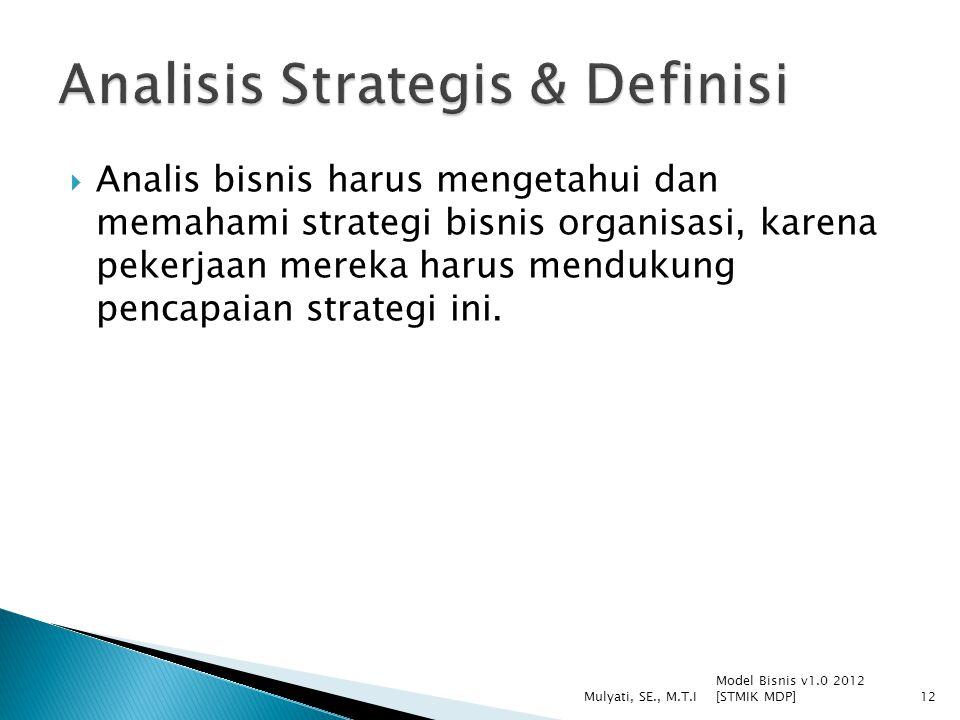 Analisis Strategis & Definisi
