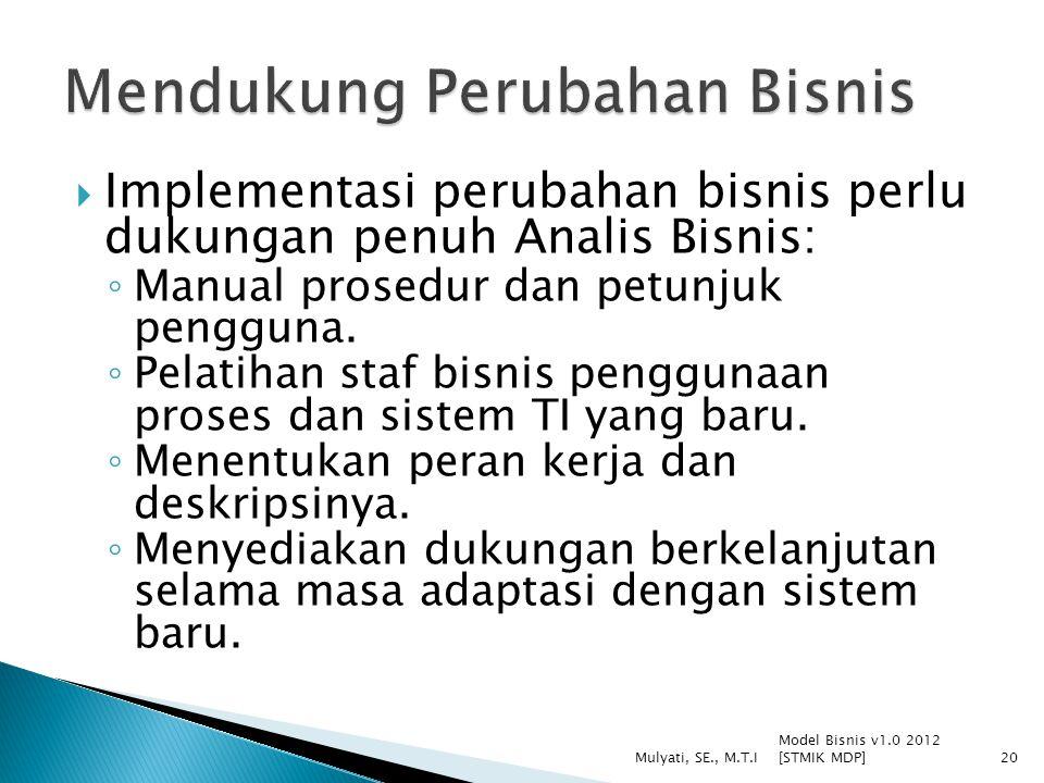 Mendukung Perubahan Bisnis