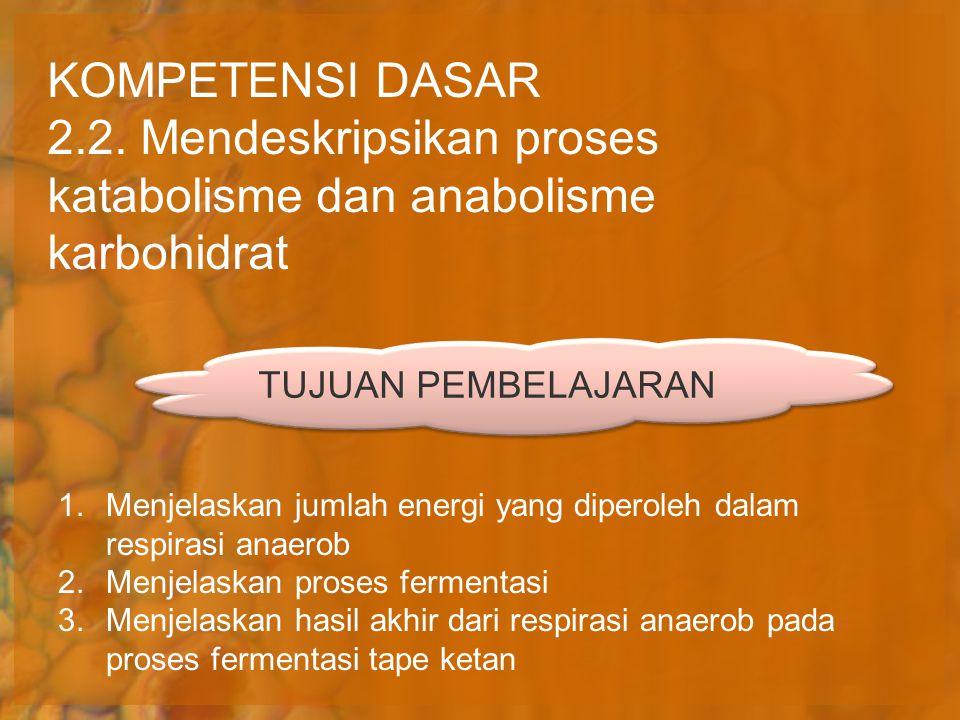 2.2. Mendeskripsikan proses katabolisme dan anabolisme karbohidrat