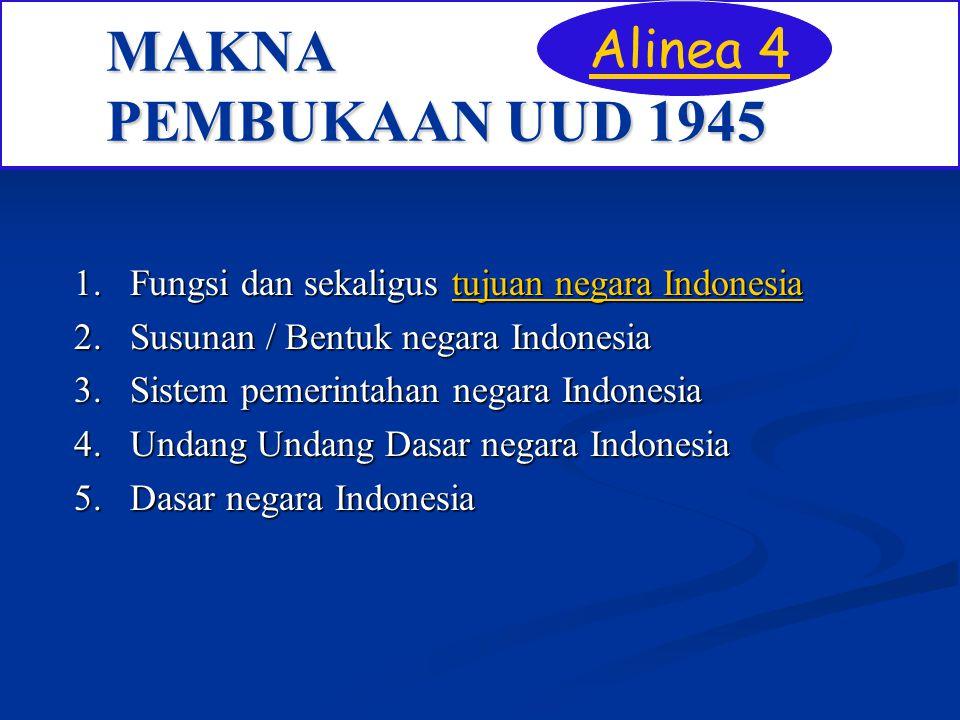 MAKNA PEMBUKAAN UUD 1945 Alinea 4
