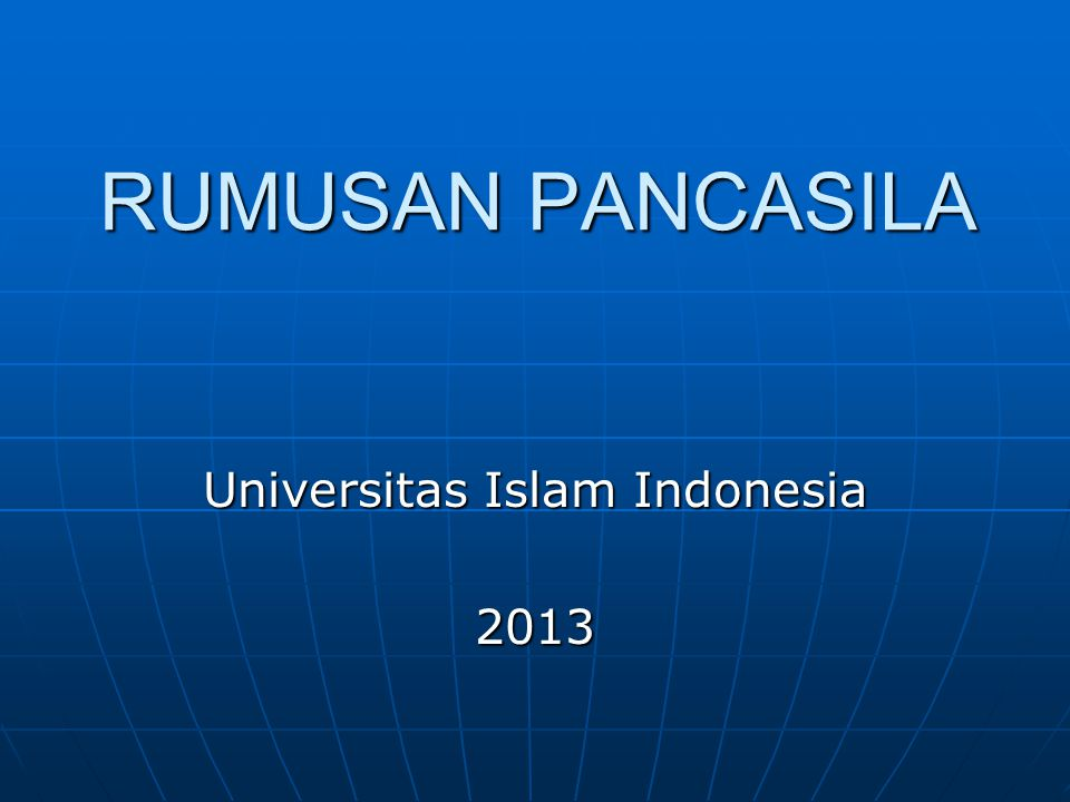 Universitas Islam Indonesia 2013