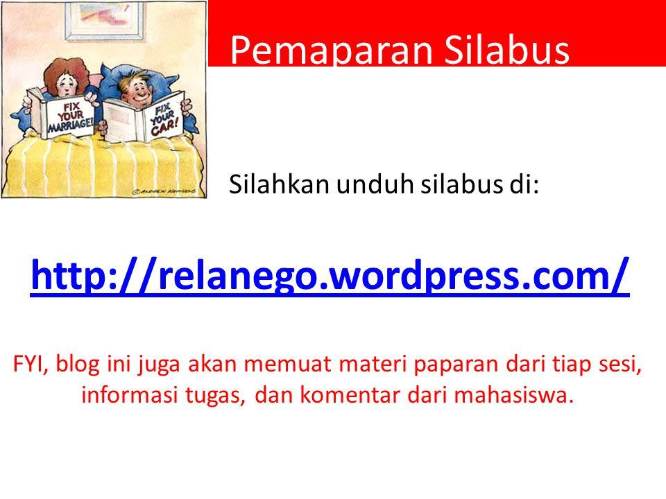 Pemaparan Silabus http://relanego.wordpress.com/