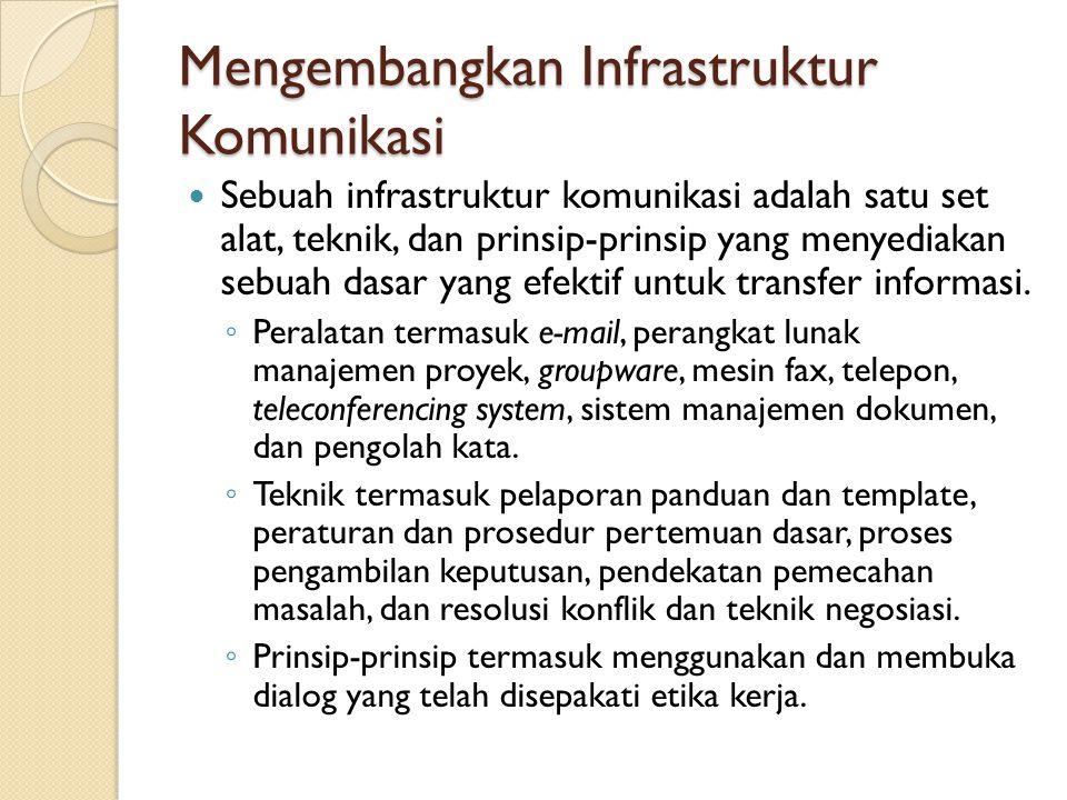 Mengembangkan Infrastruktur Komunikasi