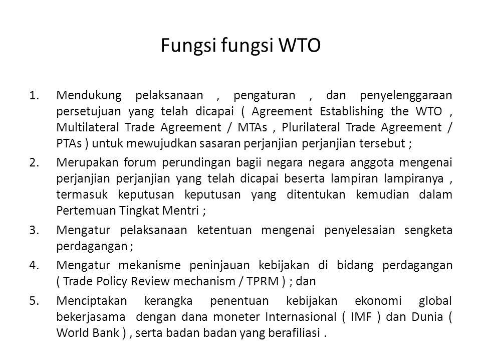 Fungsi fungsi WTO