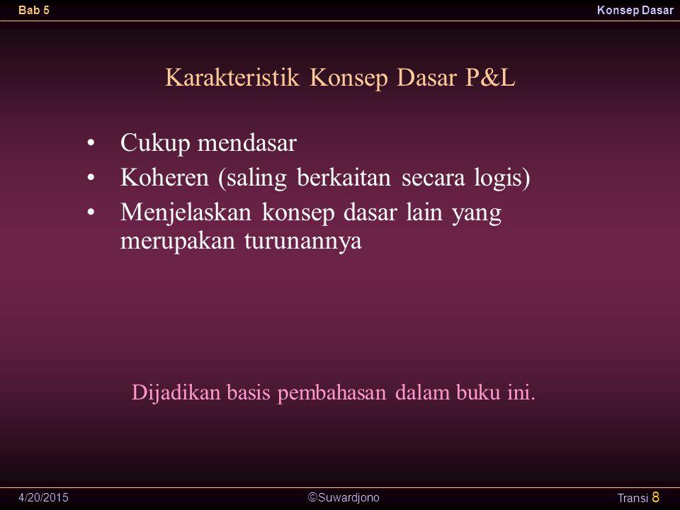 Karakteristik Konsep Dasar P&L