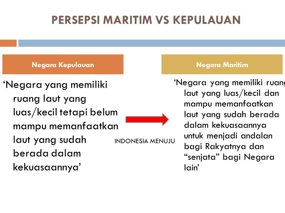 PERSEPSI MARITIM VS KEPULAUAN