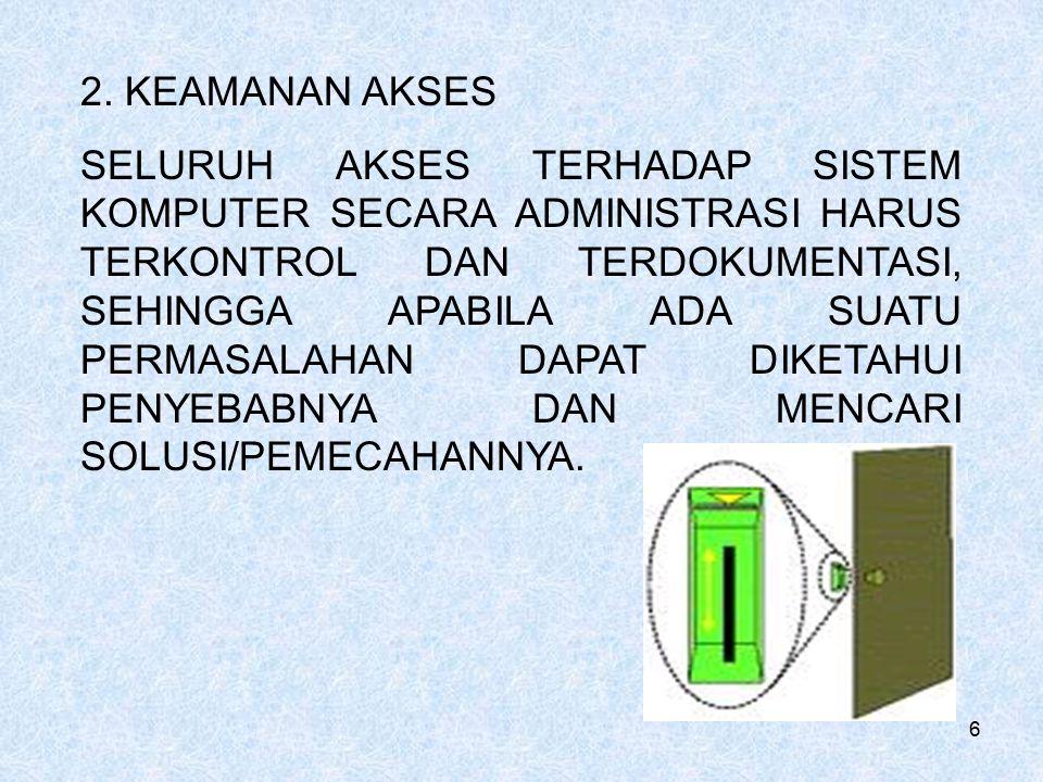 2. KEAMANAN AKSES