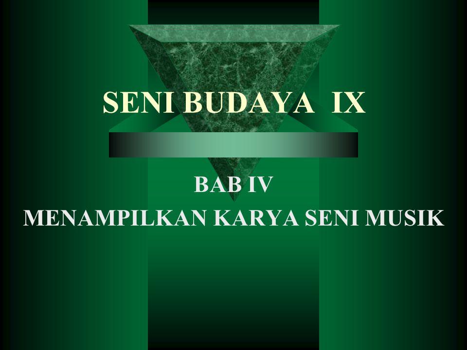 BAB IV MENAMPILKAN KARYA SENI MUSIK