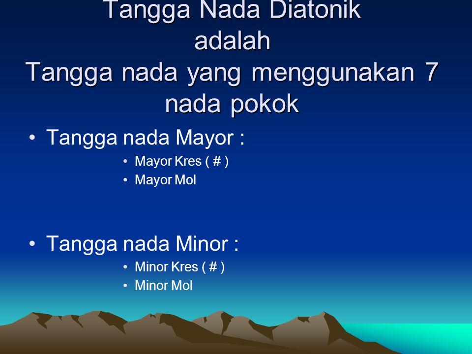 Tangga Nada Diatonik adalah Tangga nada yang menggunakan 7 nada pokok