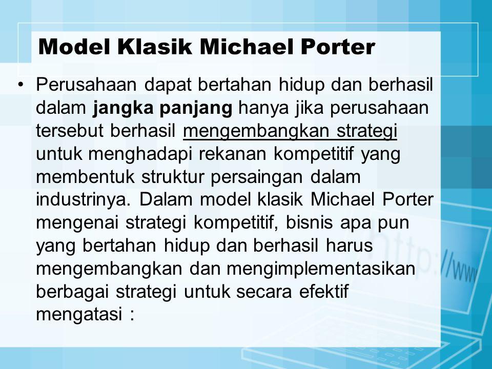 Model Klasik Michael Porter