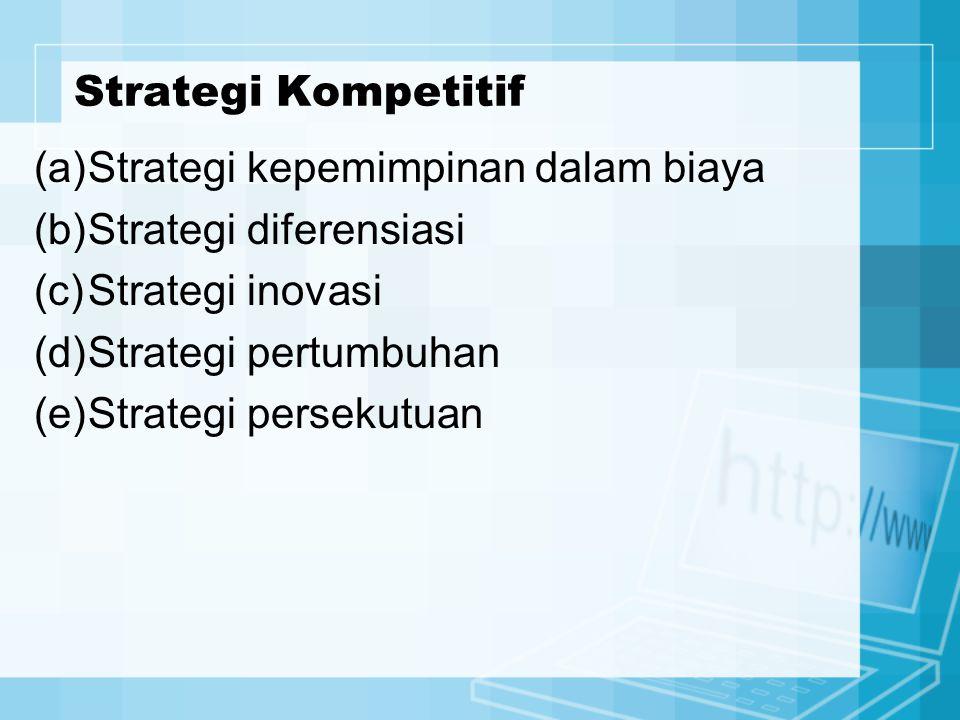 Strategi kepemimpinan dalam biaya Strategi diferensiasi