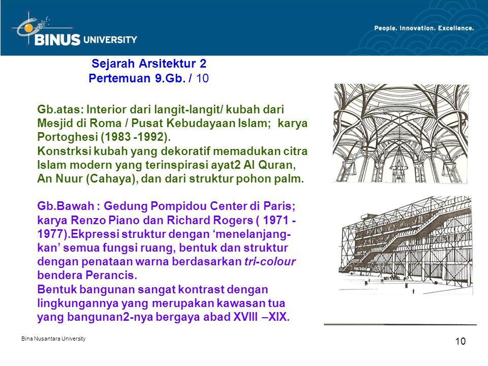 Sejarah Arsitektur 2 Pertemuan 9.Gb. / 10