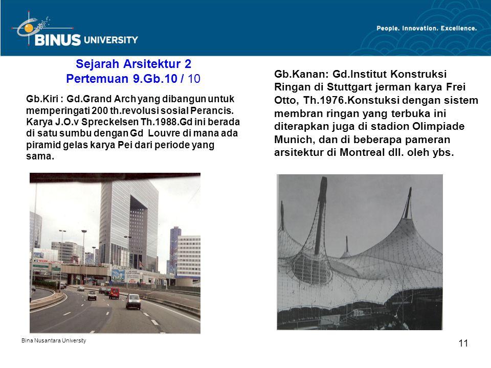 Sejarah Arsitektur 2 Pertemuan 9.Gb.10 / 10