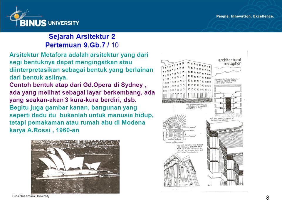 Sejarah Arsitektur 2 Pertemuan 9.Gb.7 / 10