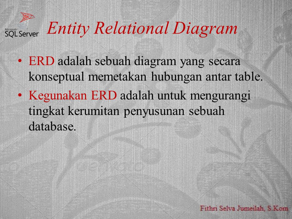 Entity Relational Diagram