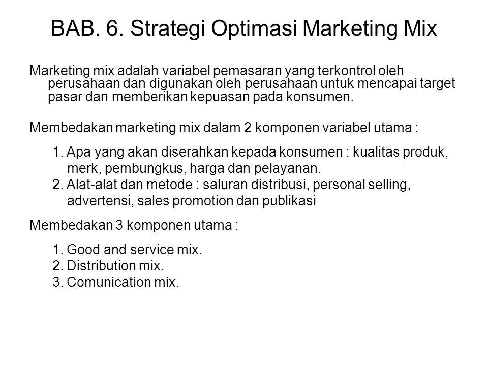 BAB. 6. Strategi Optimasi Marketing Mix