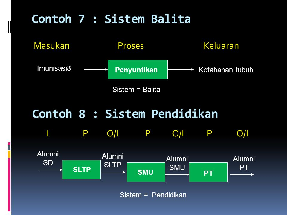 Contoh 8 : Sistem Pendidikan