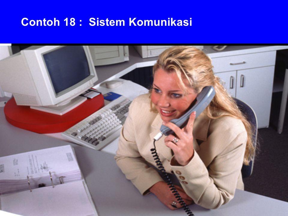 Contoh 18 : Sistem Komunikasi