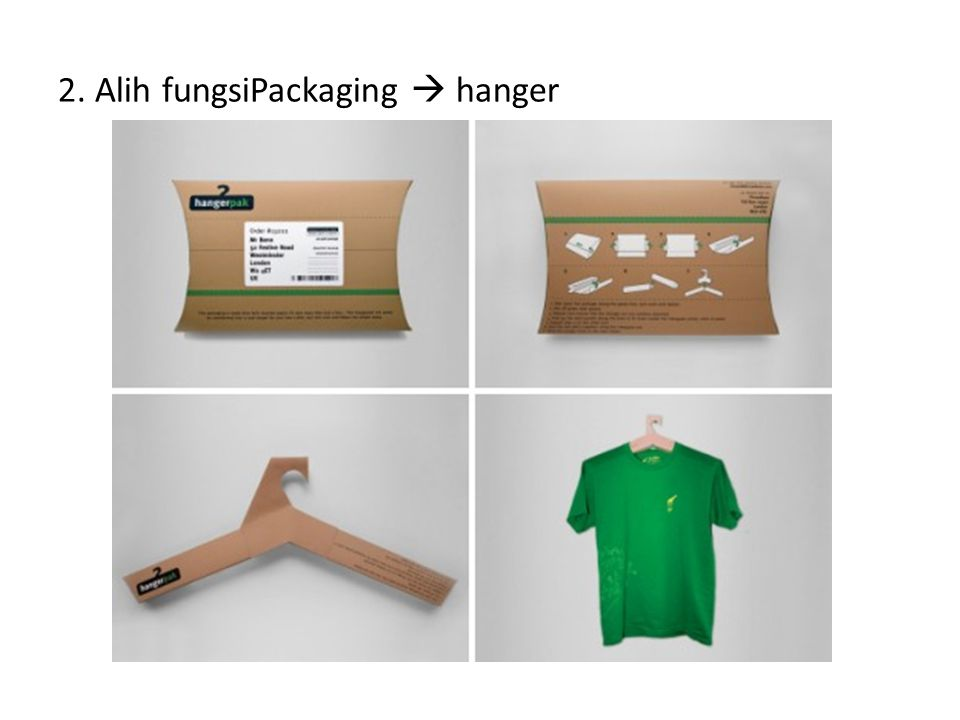 2. Alih fungsiPackaging  hanger