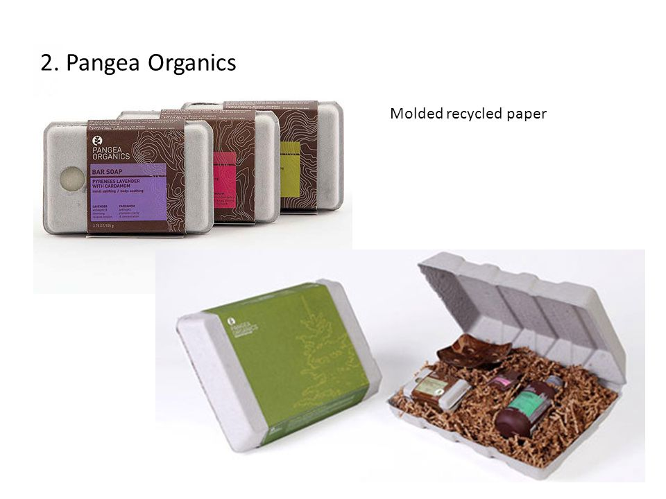 2. Pangea Organics Molded recycled paper