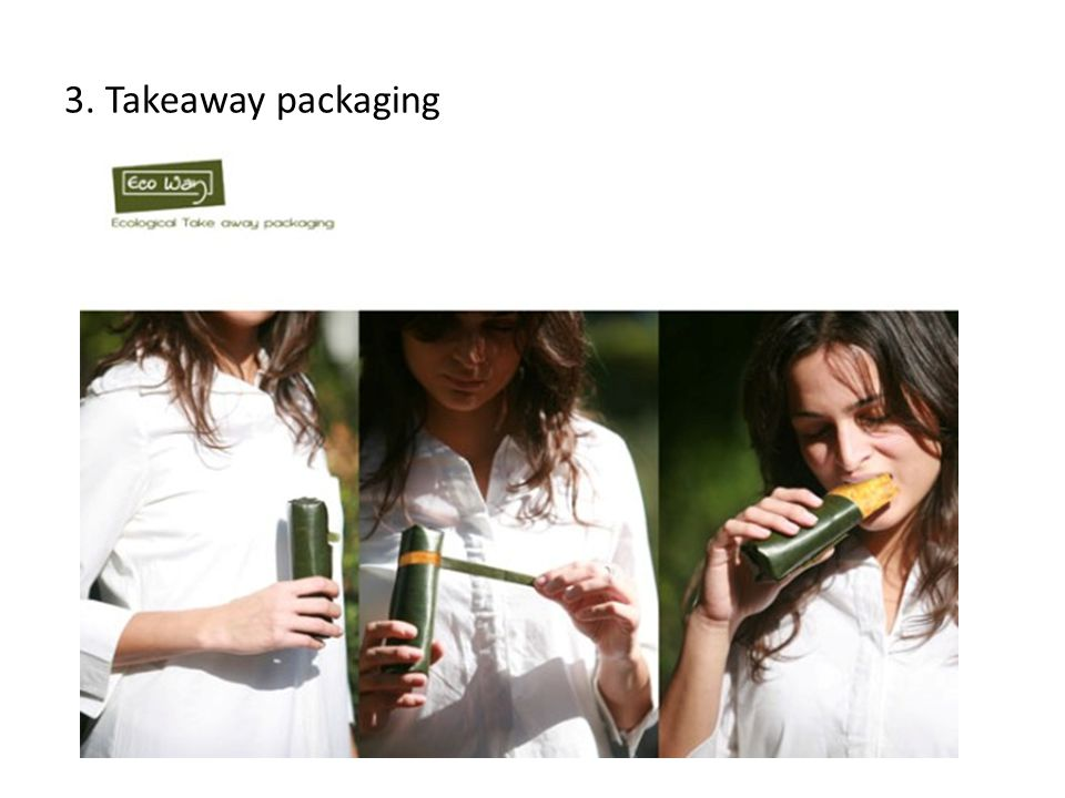 3. Takeaway packaging