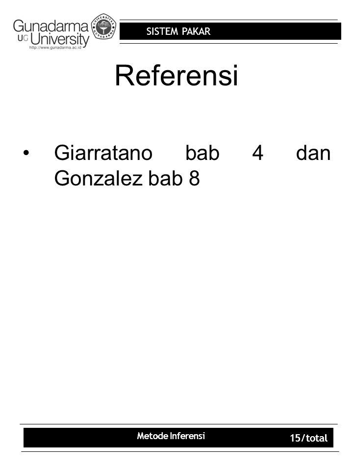 Referensi Giarratano bab 4 dan Gonzalez bab 8 15/total