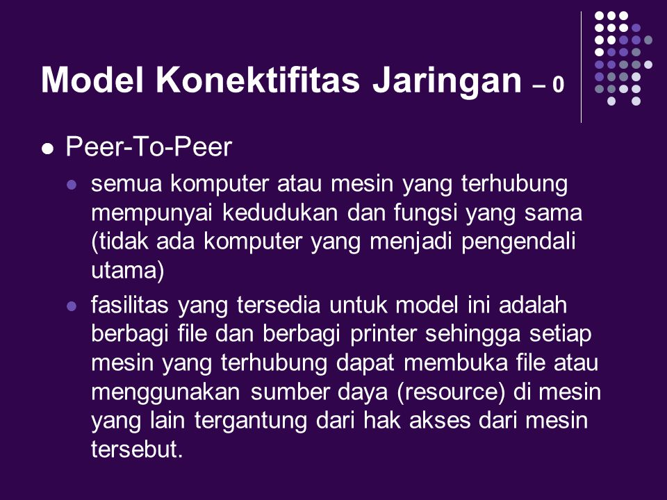 Model Konektifitas Jaringan – 0