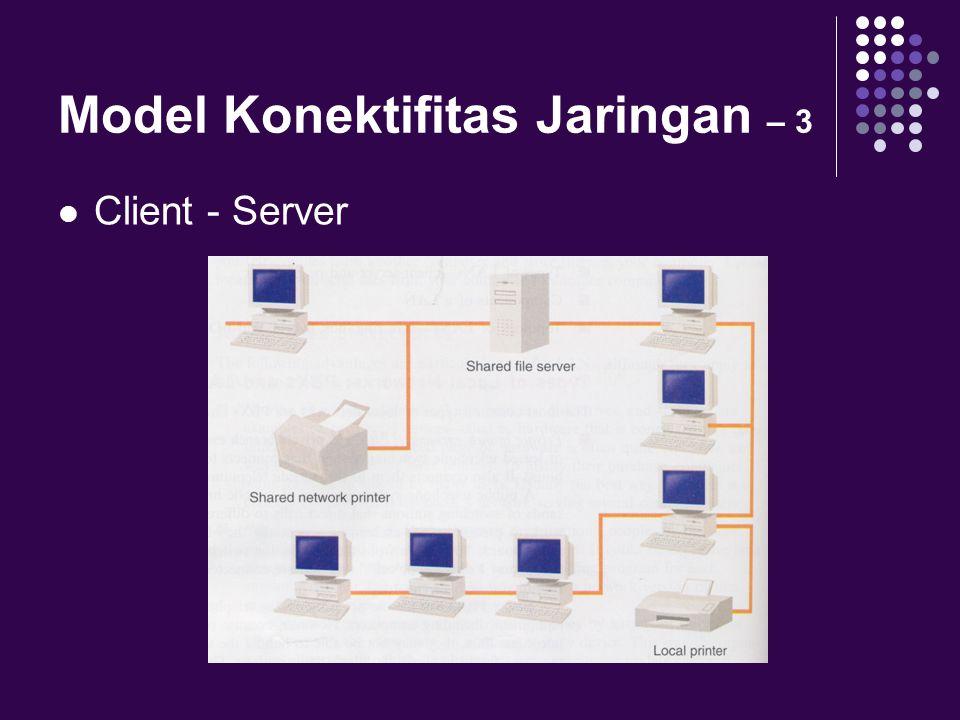 Model Konektifitas Jaringan – 3