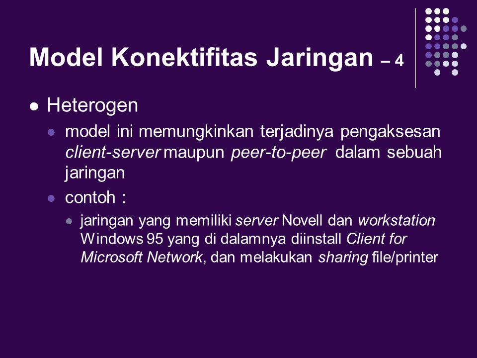 Model Konektifitas Jaringan – 4