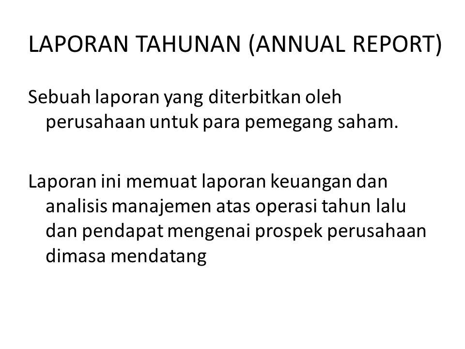 LAPORAN TAHUNAN (ANNUAL REPORT)