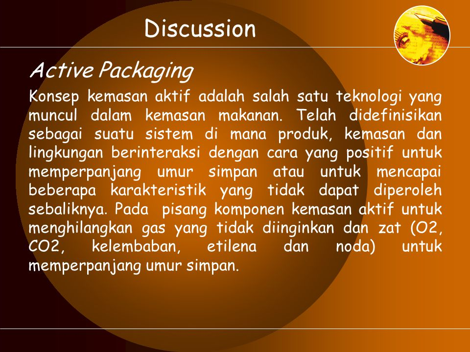 Discussion Active Packaging