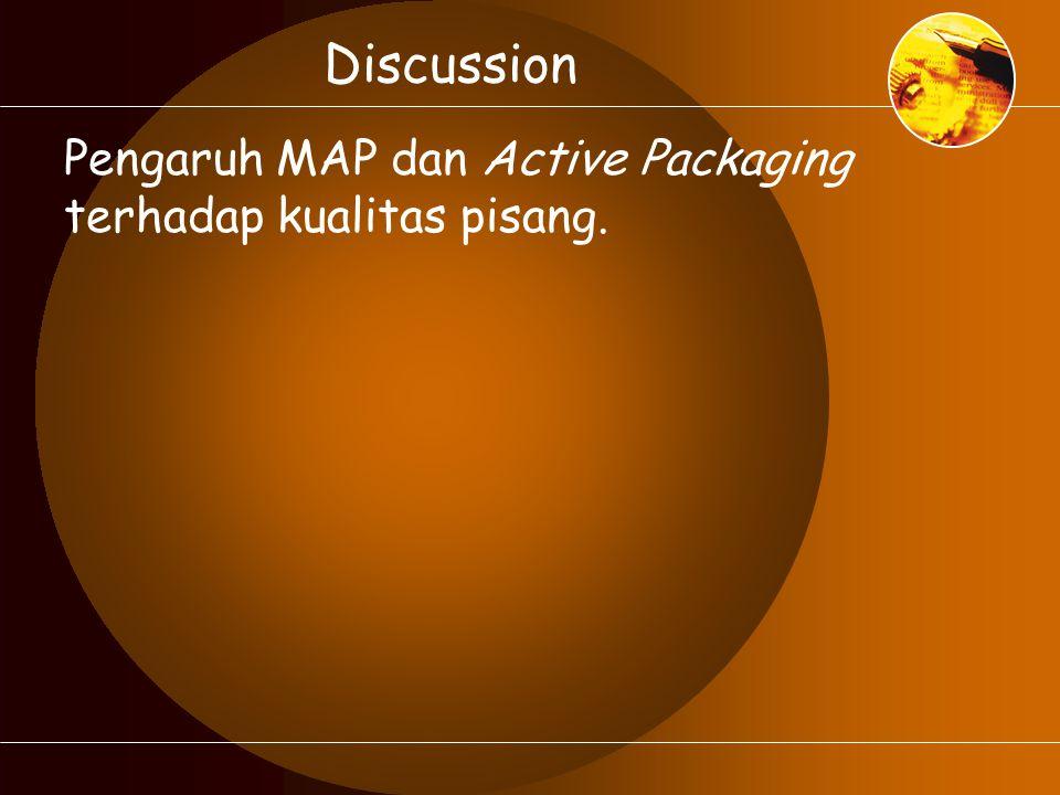 Discussion Pengaruh MAP dan Active Packaging terhadap kualitas pisang.