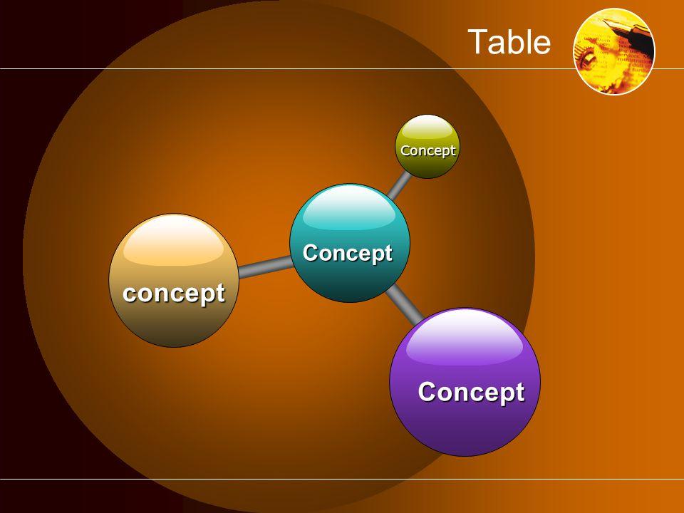 Table Concept concept