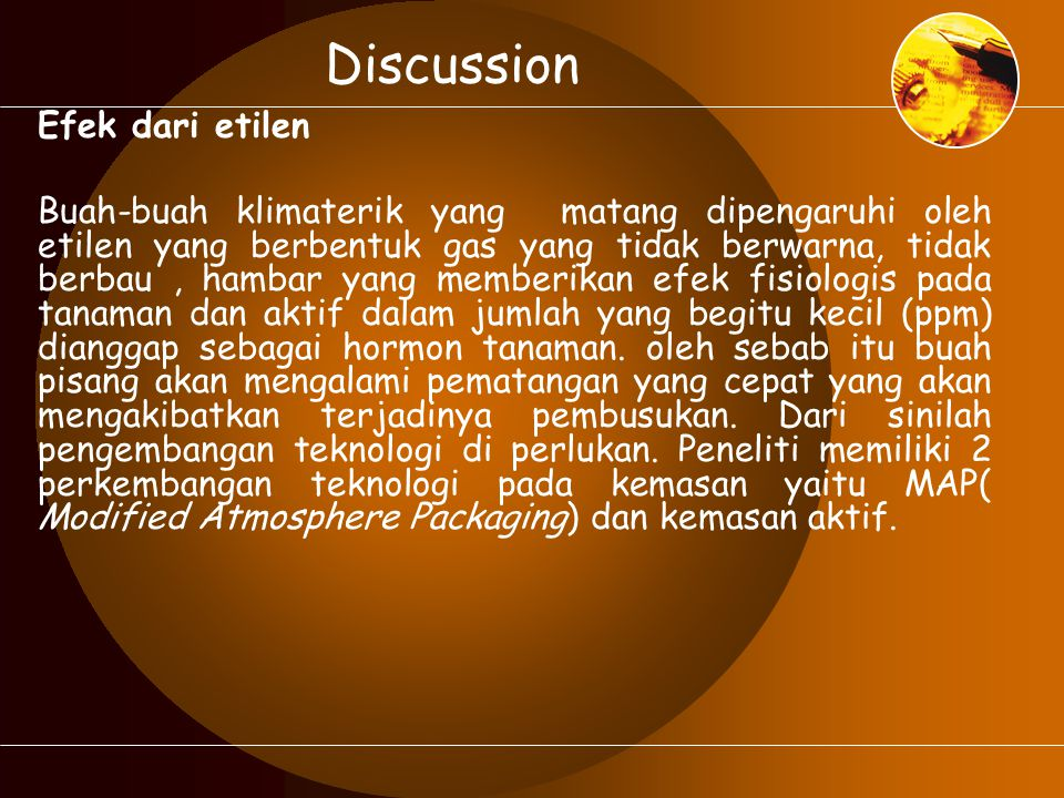 Discussion Efek dari etilen