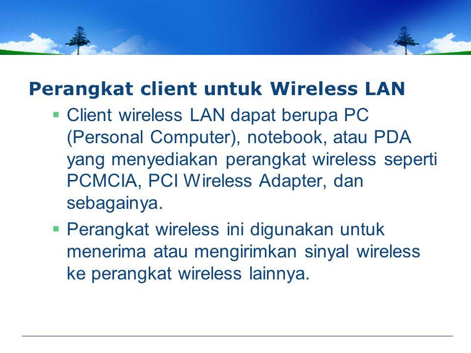 Perangkat client untuk Wireless LAN
