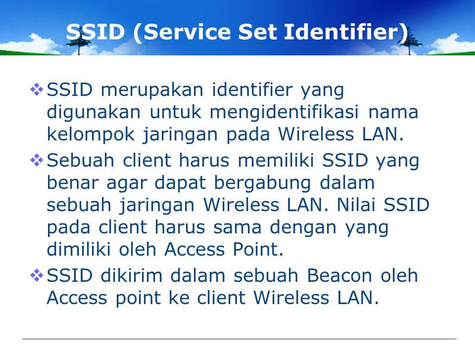 SSID (Service Set Identifier)