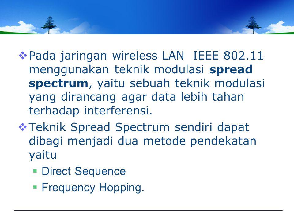 Pada jaringan wireless LAN IEEE 802