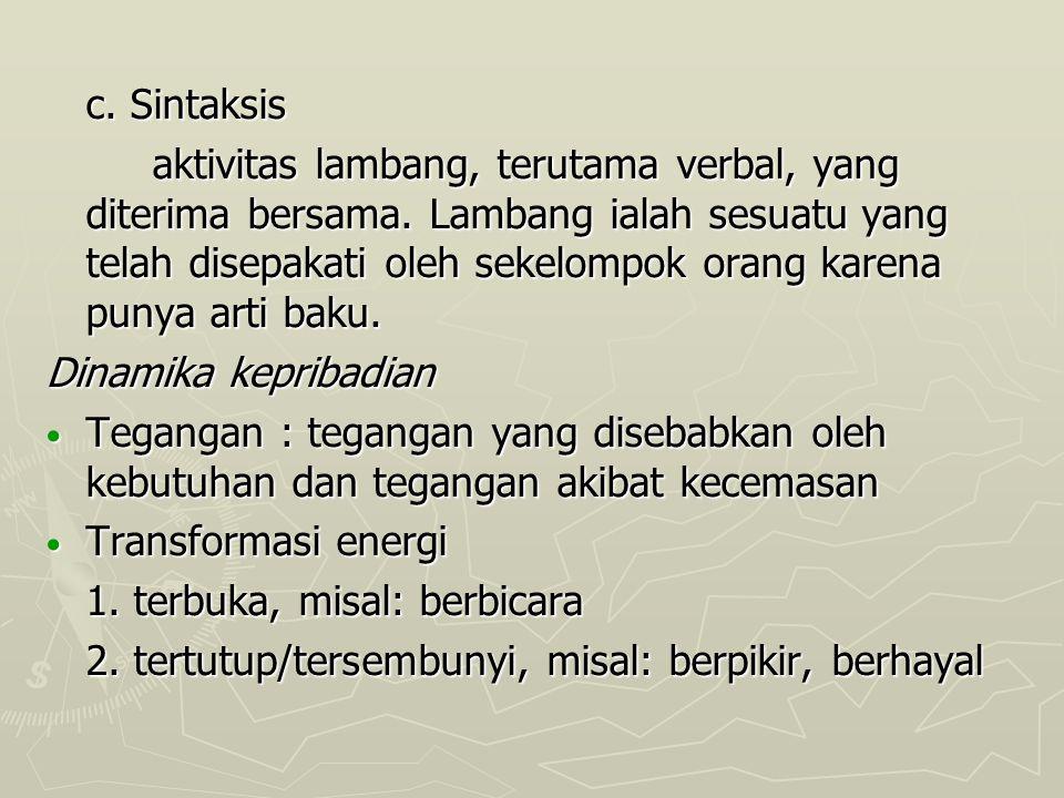 c. Sintaksis