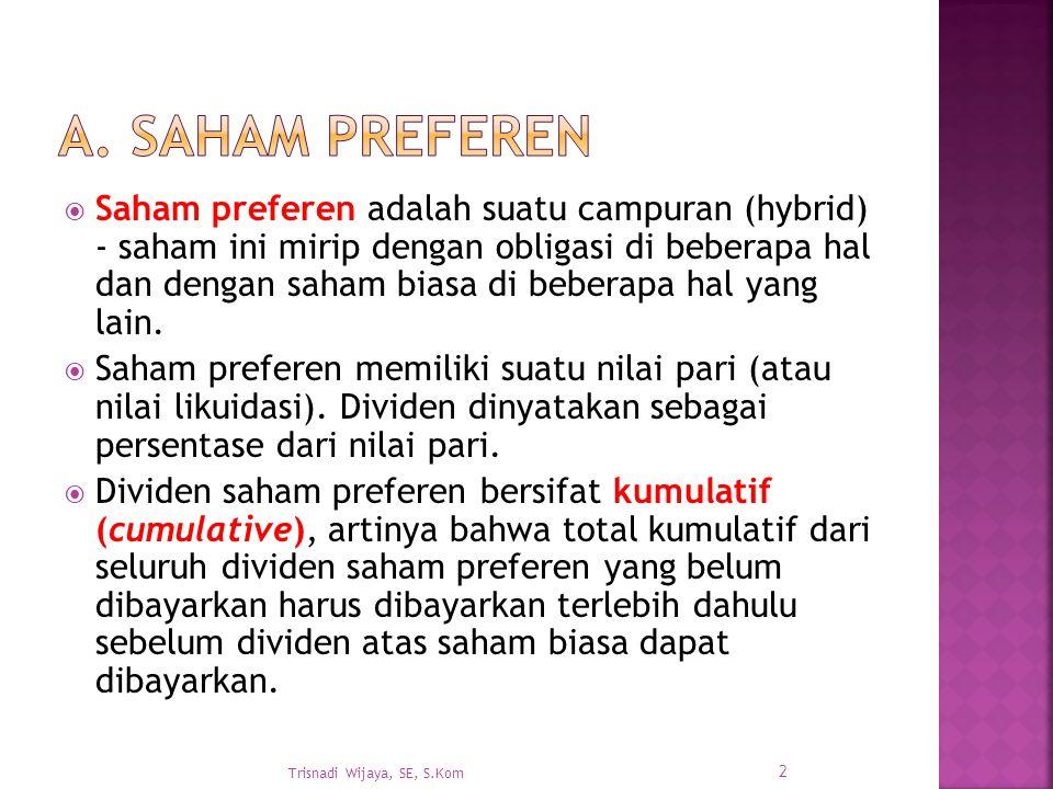 A. Saham Preferen
