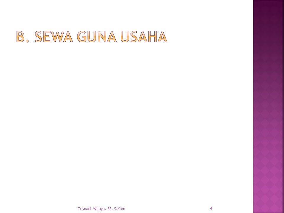 B. Sewa Guna Usaha Trisnadi Wijaya, SE, S.Kom