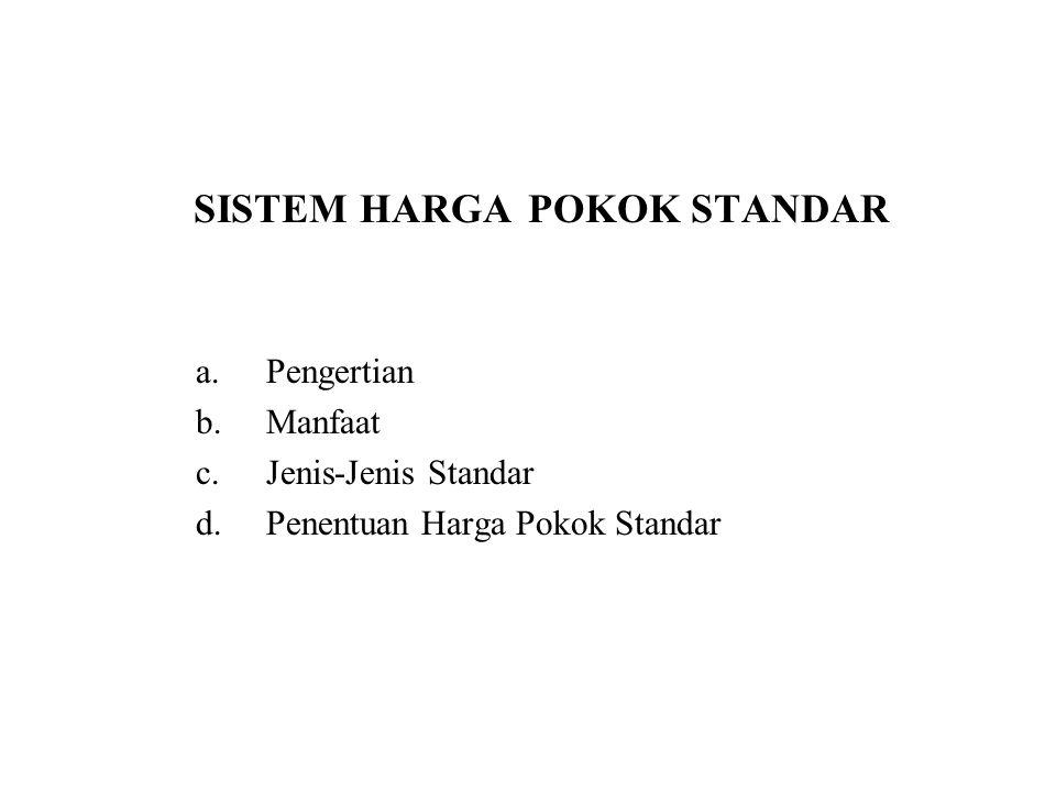 SISTEM HARGA POKOK STANDAR
