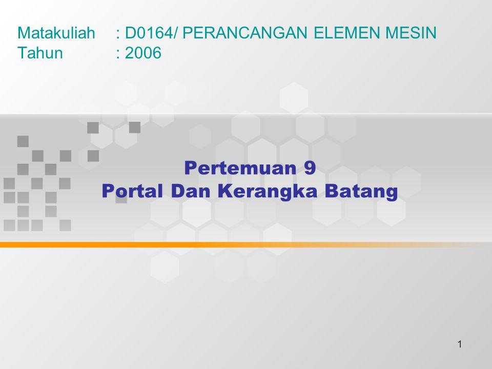 Pertemuan 9 Portal Dan Kerangka Batang