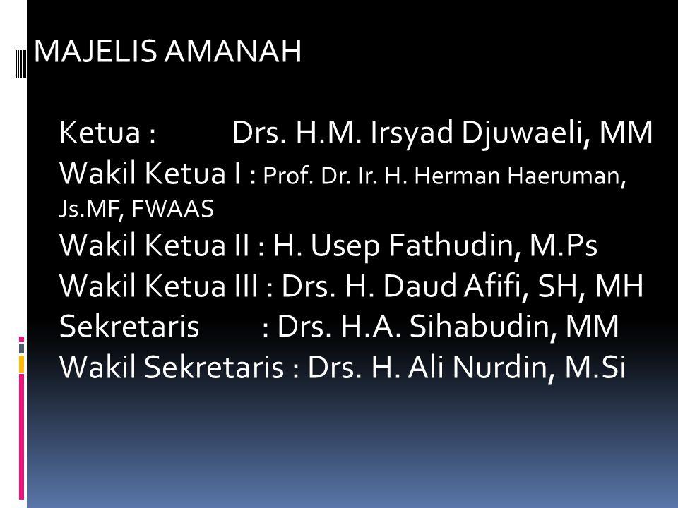 MAJELIS AMANAH Ketua :. Drs. H. M