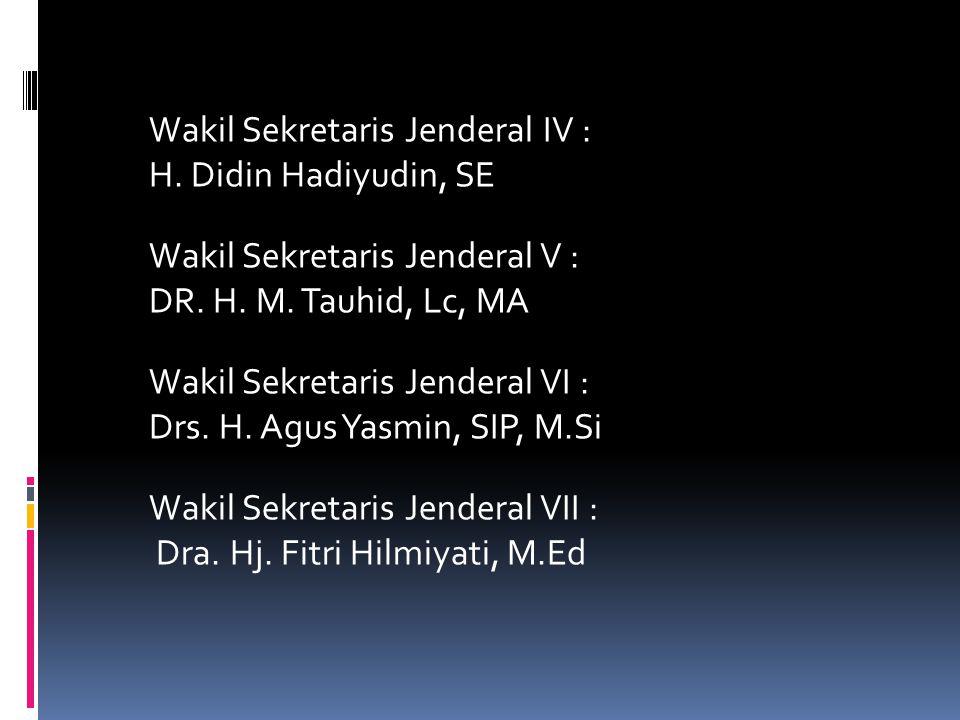 Wakil Sekretaris Jenderal IV : H